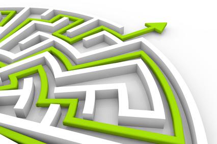 challenge success concept: labyrinth solution