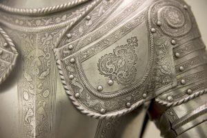 Detail of an european medieval armor