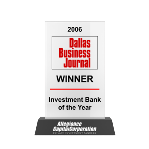 Dallas Business Journal Investment Bank of the Year 2006 Awards