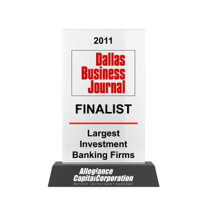 Dallas Business Journal Largest Investment Banks 2011 Awards