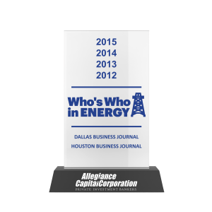 Whos Who in Energy - Dallas Business Journal 2015 Awards