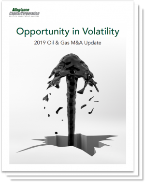 oil & gas M&A update - Allegiance Capital