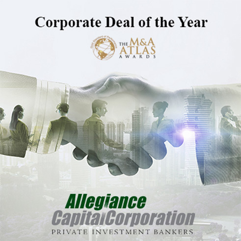 "Allegiance Capital Wins 2019 ""Corporate M&A Deal of the Year"" by the M&A Atlas Awards"