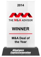 2014 The M&A Advisor Winner