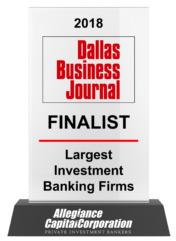2018 Dallas Business Journal Finalist