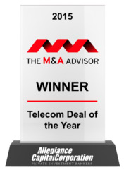 2015 The M&A Advisor Winner